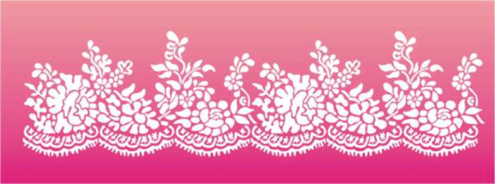 Lace Stencil for Cakes Border Stencil Designs from Stencil ...