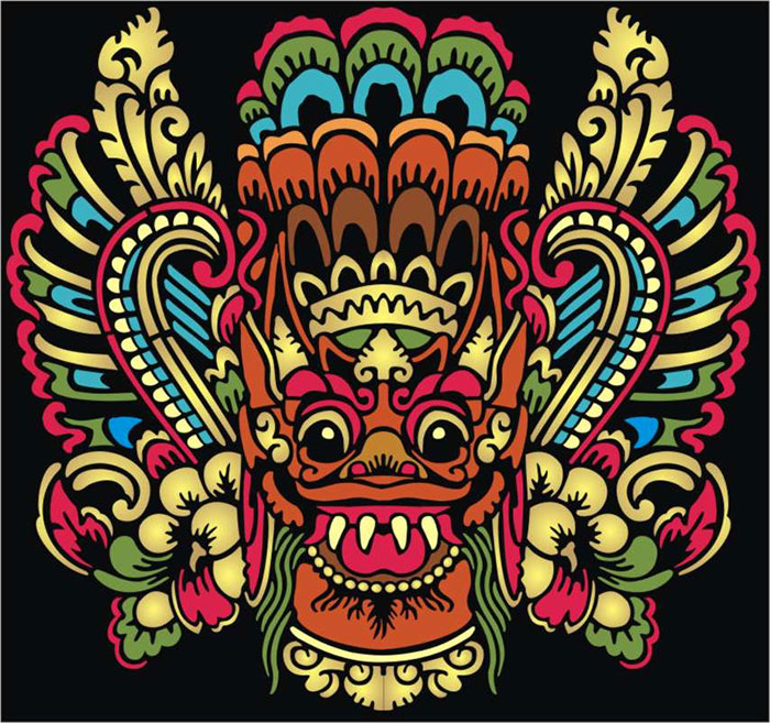 Chinese Dragon Mask C Oriental Stencil Designs from ...